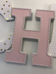 Pink and gold girls nursery letters, blush and gold nursery letters, baby girl nursery letters, gold glitter letters, pink nursery decor Glitter Letters, Letter A Crafts, Monogram Letters, Gold Glitter, Free Monogram, Monogram Fonts, Sorority Letters, Painting Wooden Letters, Painted Letters