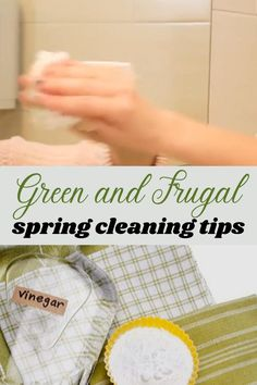 Need some cheap and sustainable ways to spring clean your home? Here are a few frugal spring cleaning tips that help you go green while you save money. Cleaning Recipes, House Cleaning Tips, Diy Cleaning Products, Cleaning Solutions, Cleaning Hacks, Cleaning Lists, Cleaning Schedules, Weekly Cleaning, Spring Cleaning Checklist