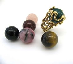 """Gilbert Albert - Gilbert Albert, """"Lost my Marbles"""" Gold and Agate Ring, c. 1970 offered by Kimberly Klosterman Jewelry on InCollect Jewelry Rings, Jewelry Watches, Jewellery, David Webb, Agate Ring, Marbles, Losing Me, Cocktail Rings, Lost"""