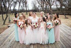 Petal and mint wedding