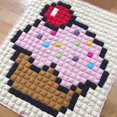 Have you tried pixel crochet? Check out 8 amazing pixel patterns, including this cupcake by @repeatcrafterme, PLUS a handy tool to make your own charts! Now on the Lion Brand blog at lby.co/pixelcrochet #pixelcrochet #8bit #crochet #crochetpattern #repeat
