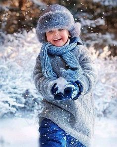 Winter Blues with snow and joy!