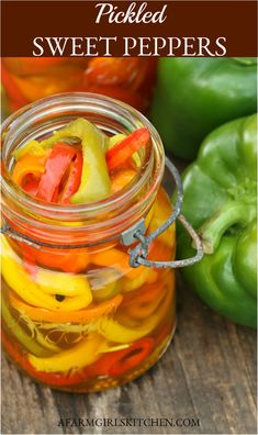 Pickled Pepper Recipe, Pickled Sweet Peppers, Sweet Bell Peppers, Stuffed Sweet Peppers, Sweet Pickle Brine Recipe, Sweet Pickle Recipes, Sweet Relish Recipe, Pickles Recipe, Relish Recipes