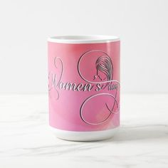 International Women's Day - Pink Watercolor Coffee Mug - watercolor gifts style unique ideas diy