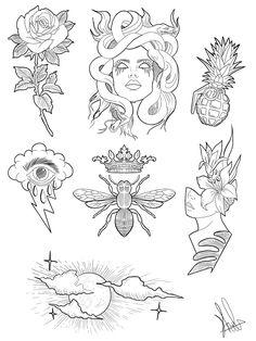Flash Art Tattoos, Body Art Tattoos, Sleeve Tattoos, Tatoos, Pin Up Tattoos, Awesome Tattoos, Flower Tattoos, Kritzelei Tattoo, Doodle Tattoo