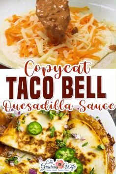 This Copycat Taco Bell Quesadilla Sauce is creamy and spicy and tastes JUST like the original. From a former Taco Bell worker and current Taco Bell lover! This will satisfy your Taco Bell quesadilla craving and it tastes Just. Like. The original. I swear it. Maybe you have extra or maybe you just love this stuff. Either way, there's lots of ways to use up this yummy sauce! | The Gracious Wife @thegraciouswife #copycattacobellrecipes #quesadillasauce #tacosauce #tacobell #thegraciouswife