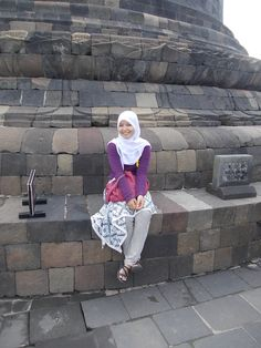 Me in top of step Borobudur Tample.  For advice don't too long. :)