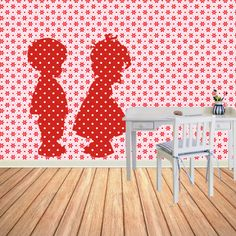 Muurdecoratie Kinderkamer nostalgisch behangfiguur