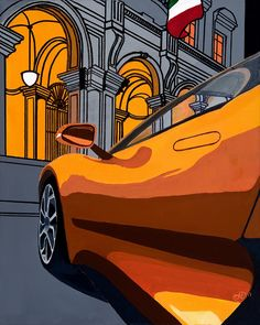 """Spectre"" acrylic on canvas. Giclee prints also available on www.jytbespokeart.com #jaguar #cx75  #spectre #jamesbond"