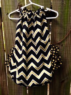 Penelope ruffle romper blackand gold Monogram by nolafionnah on Etsy