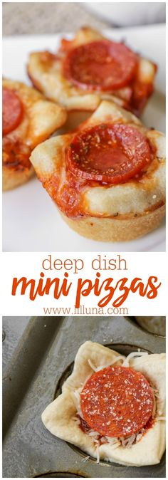 Deep Dish Mini Pizza