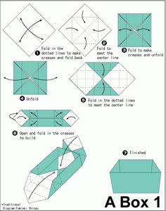 Image result for how to make origami boxes step by step