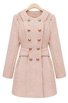 Blush military jacket