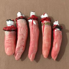 Halloween Set Of 5 Rubber Bloody Fingers Decoration Prank Props Humorous  #Unbranded