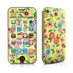 Protect your electronic device with Mary Engelbreit's Button Flowers pattern.