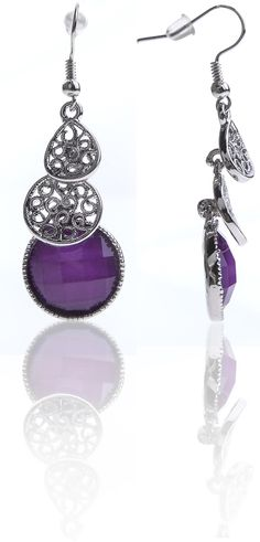 Purple with pearl stone