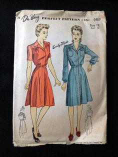 Vintage Pattern 1940s DuBarry 5469 1942 by momandpopcultureshop, $27.00
