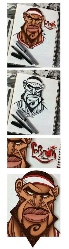 LeBron_The_King_James by Antonio de Padua Neto78, via Behance
