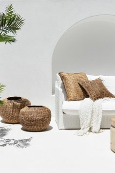 Beautiful outdoor living in a relaxed coastal style by Uniqwa Furniture. Magnolia Lane has been a proud supplier of Uniqwa Australia Wide for over 5 years. Coastal Style, Coastal Living, Home And Living, Interior And Exterior, Interior Design, Ibiza Style Interior, Interior Inspiration, Home Remodeling, Outdoor Living