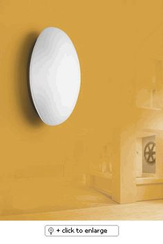 "Oval Wall Sconce    Wall light. Fully enclosed glass. Diffused light    Mounting | Wall mount only. Can be mounted to standard 4"" octagonal junction box    Materials 