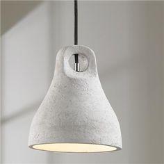 Bell Shaped LED Concrete Pendant