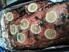Roasted Salmon w/ Lemon & Dill #brunch