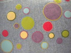 Harujion Design: Work in progress / Colorful dots applique tutorial