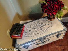 Fern Avenue: Americana Decor - Relic & Primitive trunk makeover