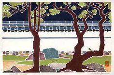 hanga gallery . . . torii gallery: White Wall by Toshi Yoshida