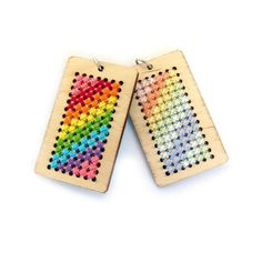 Make your own adorable rainbow pendant with this kit! Or buy just the blank pendant and create your own design! Each kit includes: 	one blank pendant 	6 or 7 lengths of embroidery floss …