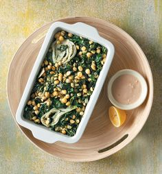 The perfect meal. Hearty, delicious, full of aromas! Serve with crusty bread. Black Eyed Peas, Spinach, Beans, Lemon, Vegetarian, Fish, Vegetables, Cooking, Recipes