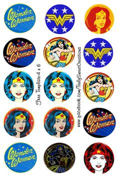 Wonder Woman bottle cap images