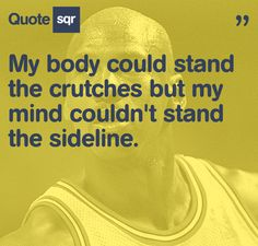 Michael Jordan- no matter what sport he plays his quotes go with all sports whether it be dance football SOCCER or anything. He shows greatness. I want to show greatness along with him-Sammie Injury Quotes, Citations Sport, Michael Jordan Quotes, Soccer Problems, Motivational Quotes, Inspirational Quotes, Basketball Quotes, Basketball Court, Knee Injury