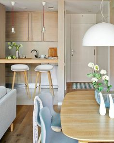 Let's discuss how to create a small apartment design to best saving space into a comfortable residence. Small Apartment Design, Small Apartment Decorating, Small Apartments, Home Interior, Kitchen Interior, Interior Design, Small Space Living, Tiny Living, Deco Cool