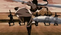 Katara's waterbending gif. It's amazing that she doesn't even need to look at who she's fighting because she is so sure of her own abilities. She's just that good.