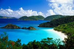 Overlooking Trunk Bay, St. John, USVI. I miss our honeymoon island. <3