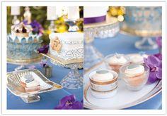 A elegant spread of royal desserts!  Designed by Alchemy Fine Events www.alchemyfineevents.com
