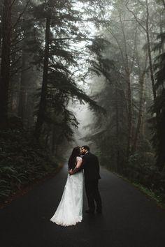 Arielle and Dustin's Foggy Oregon Coast Elopement
