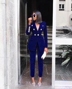 White Button Leg Capri Pants in 2021 Woman suit fashion