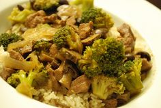 Slow Cooker Beef and Broccoli -  WW 8 Points +