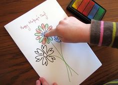 printable mother's day card for kids to do fingerprints