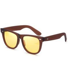 Night-Vision Glasses Women Polarized Yellow Lens-Anti Glare Night-Driving Glasses for Men&Women - C018ZT4ZHMZ #Night#Vision#Glasses#Women#Polarized#Yellow#Lens#Anti#Glare#Night#Driving#Glasses#for#Men#Women#C018ZT4ZHMZ Wayfarer Sunglasses, Mirrored Sunglasses, Vision Glasses, Night Driving, Womens Glasses, Outdoor Woman, Night Vision, Eyewear, Lenses
