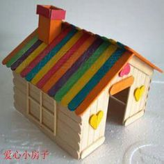 Do-It-Yourself Wood Crafts Made Easy With John Met - Popsicle Stick Crafts House Craft Stick Projects, Wood Projects For Kids, Craft Stick Crafts, Diy Crafts For Kids, Home Crafts, Art For Kids, Paper Crafts, Popsicle Stick Crafts House, Popsicle Crafts