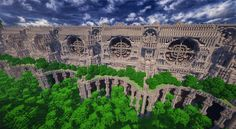Post with 52 votes and 27361 views. Shared by Mithrintia. The Gates of Immortal Minecraft Bridges, Minecraft Building Guide, Minecraft Tips, Minecraft Projects, Cool Minecraft, Minecraft Buildings, Mount Rushmore, Fantasy Art, City Photo