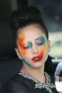 Lady Gaga turns her face into an artist's canvas | Never Underdressed
