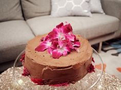 Angel Food Cake with Chocolate Hazelnut Frosting recipe from Giada De Laurentiis via Food Network
