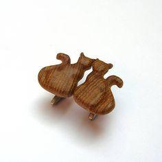 wlkr / Drevené manžetové gombíky / Drevené manžetové gombíky - hruškové mačacie (nerez) Cufflinks, Accessories, Wedding Cufflinks, Jewelry Accessories