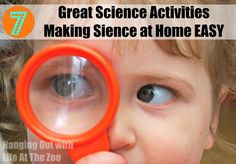 Science at Home should be EASY and fun. It is all about exploration, observing, asking questions and trying to find answers. Here bloggers get together to share 7 fun and ecclectic science ideas.