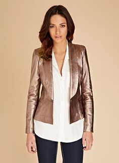 Aldridge Leather Blazer | Jackets | Baukjen