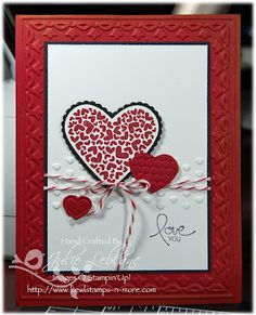 Sweet Valentine's Day Card...Stampin' Up! SU by Julie Leblanc, Kewl Stamps n More.